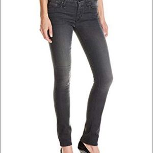 Hudson shine mid rise skinny jeans in dark grey